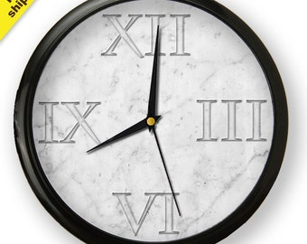 Marble background Wall Clock, original addition to your home decor