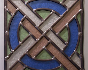 24 cm stained glass panel