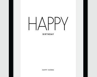 Happy Birthday, Wall Art, Wall Decor, Happy Birthday Wall Art, Digital Print, Printable