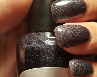 "Unique Holographic ""Diamonds in the Dark"" Glitter Nail Polish Full Size 15ml Bottle"