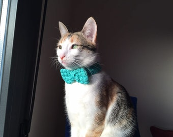 Bow tie to cat crochet