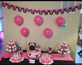 Minnie Mouse Birthday Banner - Customizable Birthday Banner