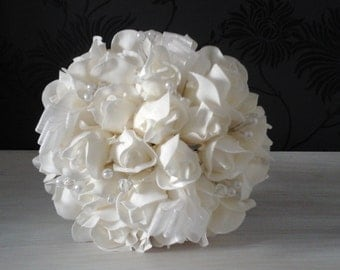 ivory soft touch bouquet ivory bouquet ivory rose bouquet rose bouquet brides bouquet wedding bouquet ivory rosebud bouquet bridesmaid