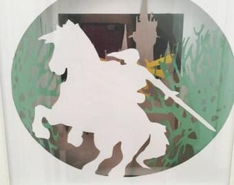 Link - legend of zelda shadowbox frame