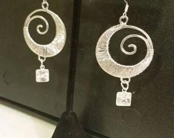 Silver Swirls earrings