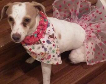 Pink Paw Print Dog Tutu
