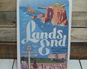 A4 wood print : Lands Ends