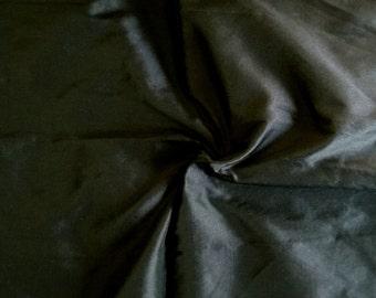 Raw Silk - Dupioni Silk -Indian Silk - Midnight Black- Half Yard
