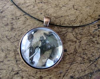 Elephant Pendant necklace, Elephant Jewelry, Elephant Pendant, Pendant necklace, Original Gift