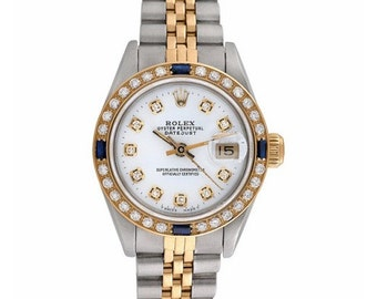 Rolex 69173 Datejust Ladies Sapphire-Blue diamond Watch