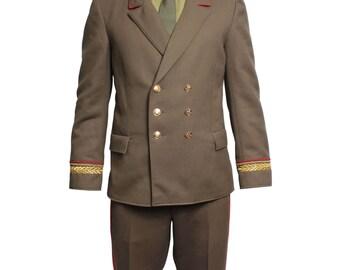Russian military suit Marshall Soviet Union everyday uniform