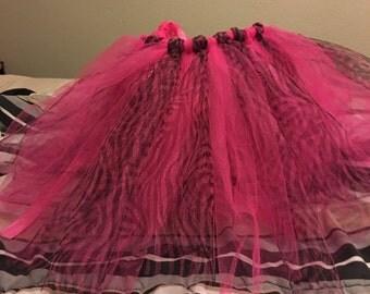 Pink and black toddler tutu