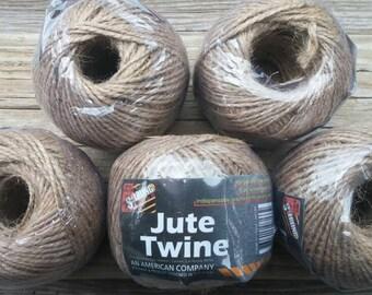 5 Rolls of Jute Twine, 250ft Rolls