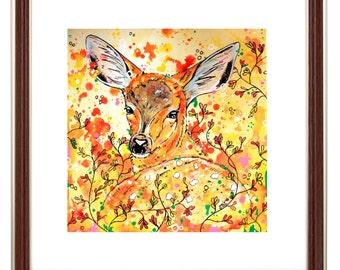 Fawn - Deer Fawn Art Print