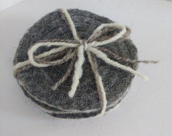 Double sided felt coasters