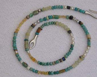 Turquoise - Opal chain - cheeky and cheerful
