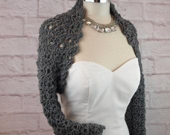 Crochet Pattern Shrug Easy Crochet Pattern Wedding Crochet Pattern Bridal Shrug Bridal Bolero Long Sleeve Crochet Shrug Pattern