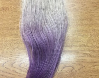 Purple Ombre human hair clip in extensions