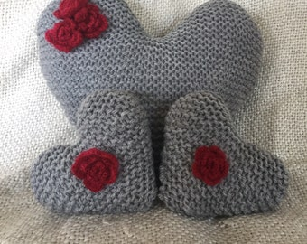Heart and Rose  cushions
