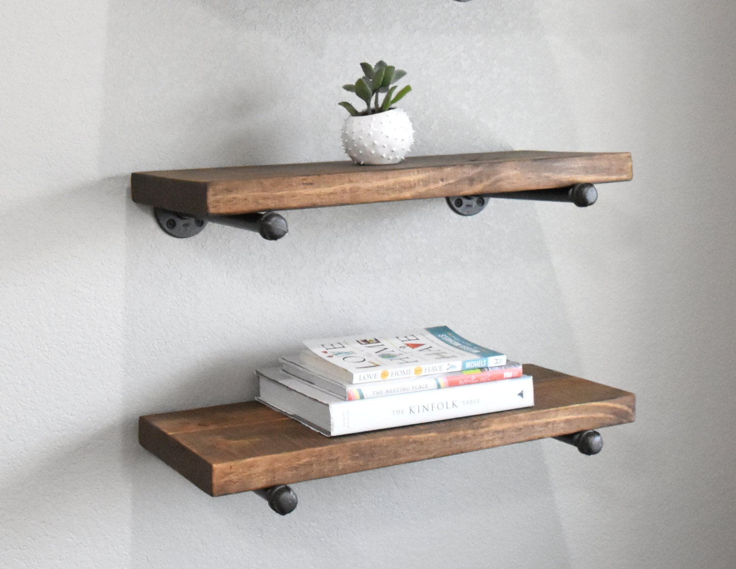 2 Shelf Combo 6 Depth Industrial Floating Shelves