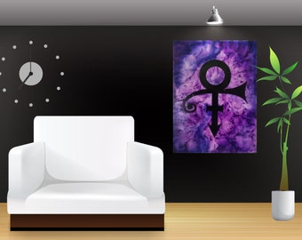 Prince Tribute, Prince Canvas, Prince Art, Melted Crayon Art, Silhouette Art, Abstract Art, Watercolor Art, Canvas Art, Fan Art, Prince