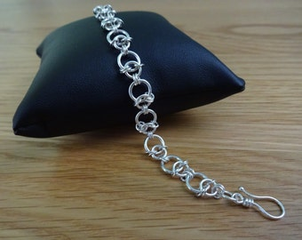 Sterling Silver Whimsical Chain Bracelet