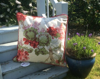 Floral handmade cushion