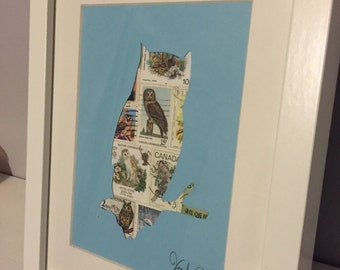 Postage Stamp Art Picture Frame