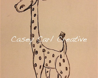 Happy Giraffe Sketch
