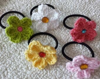 Hair tie crochet