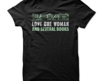 Love One Woman and Several Books - Mens Funny Reading T-Shirt