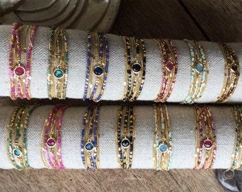 """Bracelets """"Bombay"""" plate gold"""