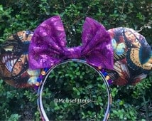Butterfly Minnie Mouse Ears, Sequin Base, Lace Bow