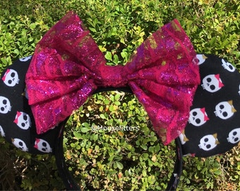 Skull Mouse Ears, Halloween Mouse Ears