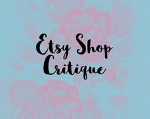 Etsy Shop Critique - Personalized SEO Help Tags Titles Listing Descriptions Top Selling Analysis Advice Trending Graphics Best Of Business