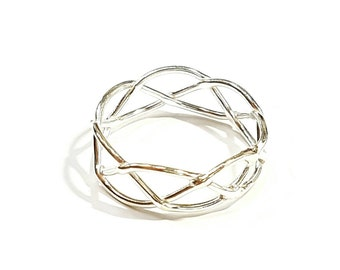 Lace silver ring 925, Sterling silver ring, Dainty ring