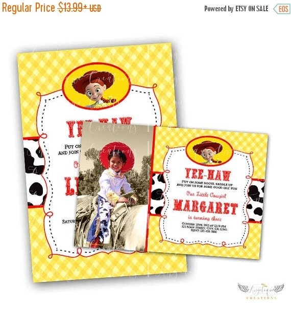 ON SALE Toy Story & Matching Blank Digital Thank You Card Also