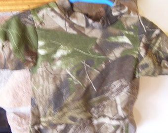 Camouflage diaper shirt