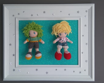 Beautiful decorative frame, wall decoration for bedroom child or baby, trend and original!