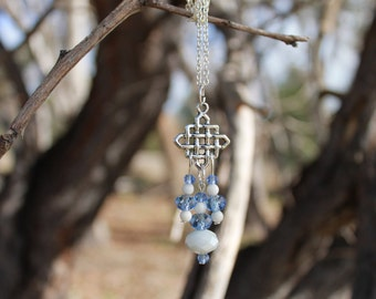 Celtic Style Crystal Pendant