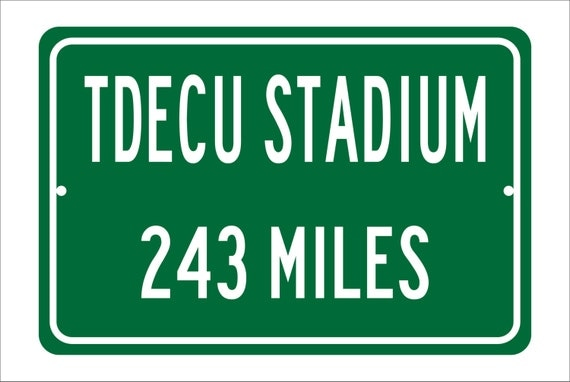 Custom College Highway Distance Sign to TDECU Stadium | Home of the Houston Cougars | Personalized Distance to TDECU Stadium | Big East