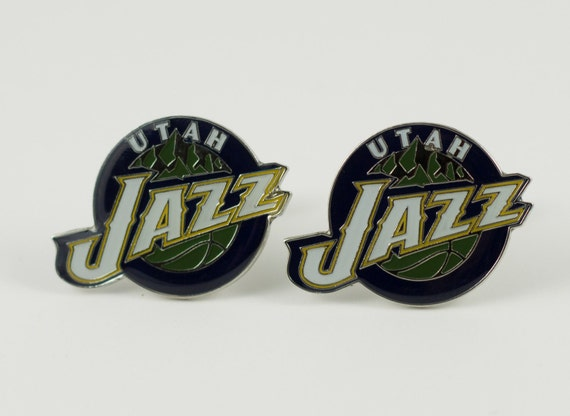 Utah Jazz Cuff Links -- FREE SHIPPING with USPS First Class Domestic Mail