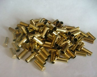 Brass - .22 LR Shell Casings - 100 pcs - Inert. Recycled fired cartrages. Use to make Unique Jewelry