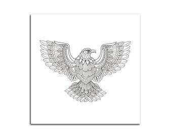 Eagle Coloring Canvas