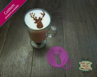 Buck/Deer Head- Coffee Stencil