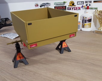 Trailer green RC model 1/10 Scale Crawler