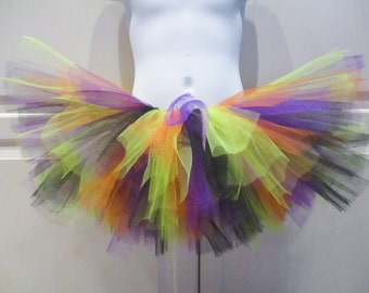 Halloween Tutu (Black, Orange, Lime and Purple) - Other Colors Available