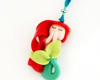 Mermaid necklace adjustable inspiration ariel