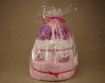 (Large) girl diaper cake
