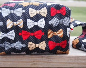 Bow Tie Sock Cube Knitting Project Bag